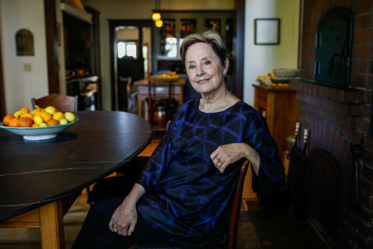 Alice Waters poses for a portrait at her home in Berkeley, California on Monday, March 2, 2020.