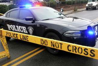 A Bridgeport Police cruiser responds to an incident in the summer of 2021.