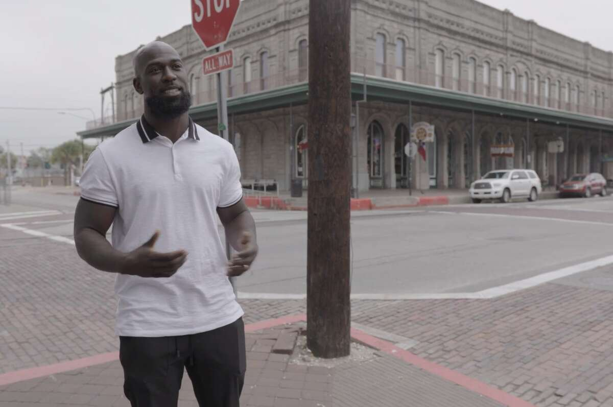 Former Texans safety Michael Thomas is part of an NFL Inspire Change video that takes viewers around historic sites in Galveston to teach about Juneteenth.