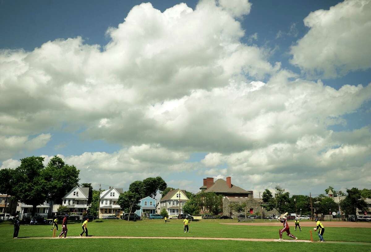 Activity at Newfield Park in Bridgeport on a recent Sunday.
