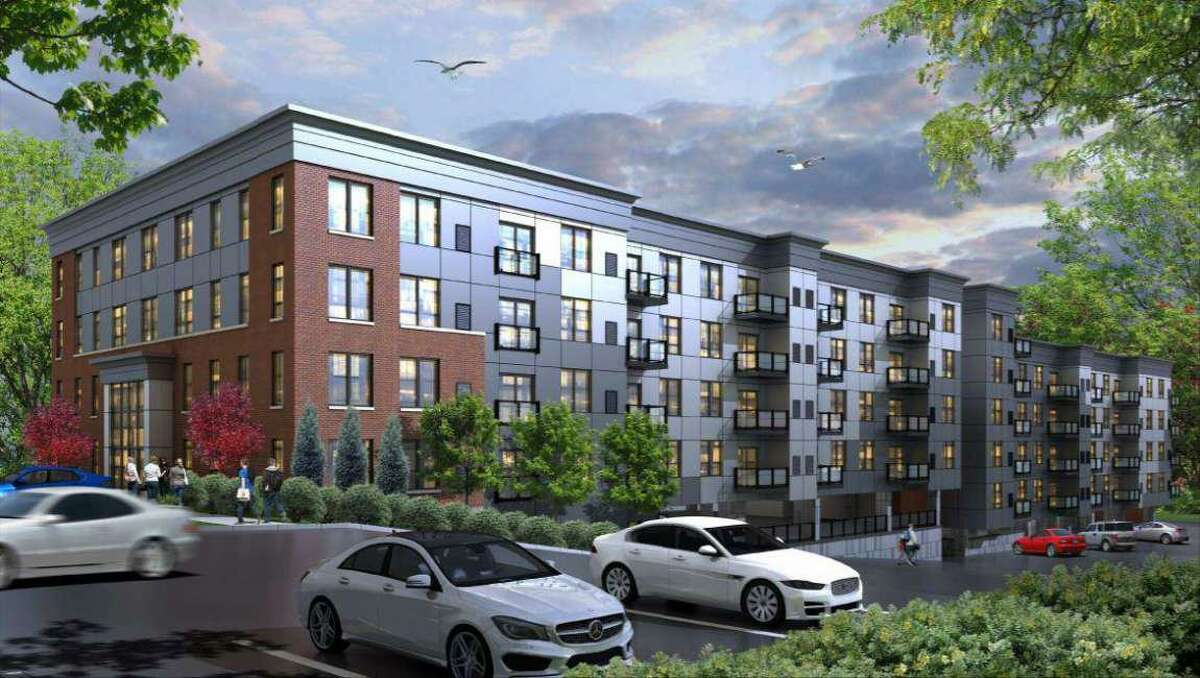 Artist rendering of a proposed apartment complex at 5545 Park Ave., Fairfield.