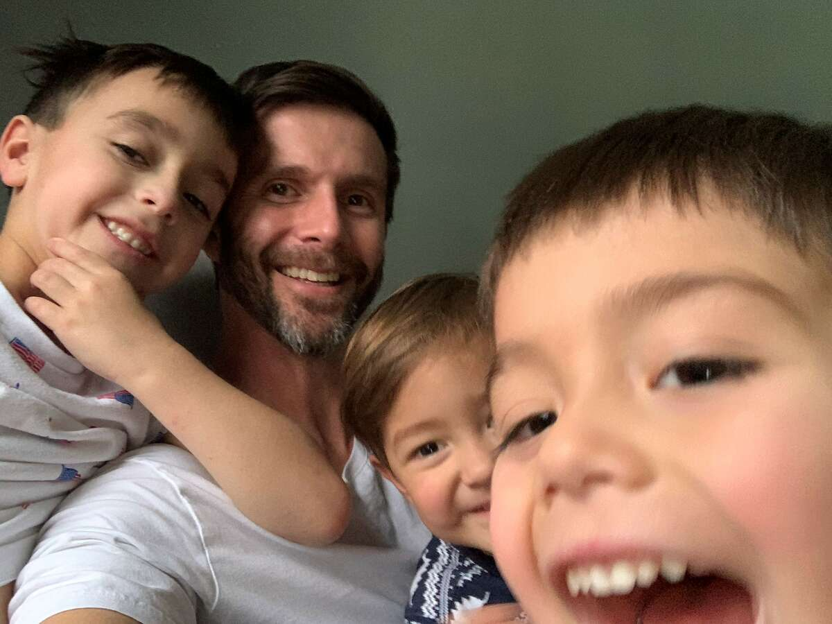 KENS 5 Phil Anaya and his three boys: Elijah, Phillip, and Noel.