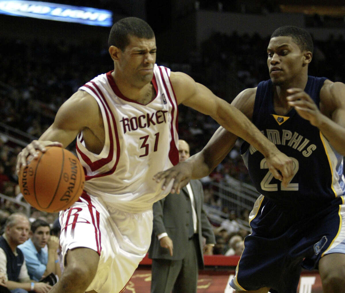 The Rockets drafted Rudy Gay (right) in 2006 and then traded him to Memphis in a deal that brought them Shane Battier (31).