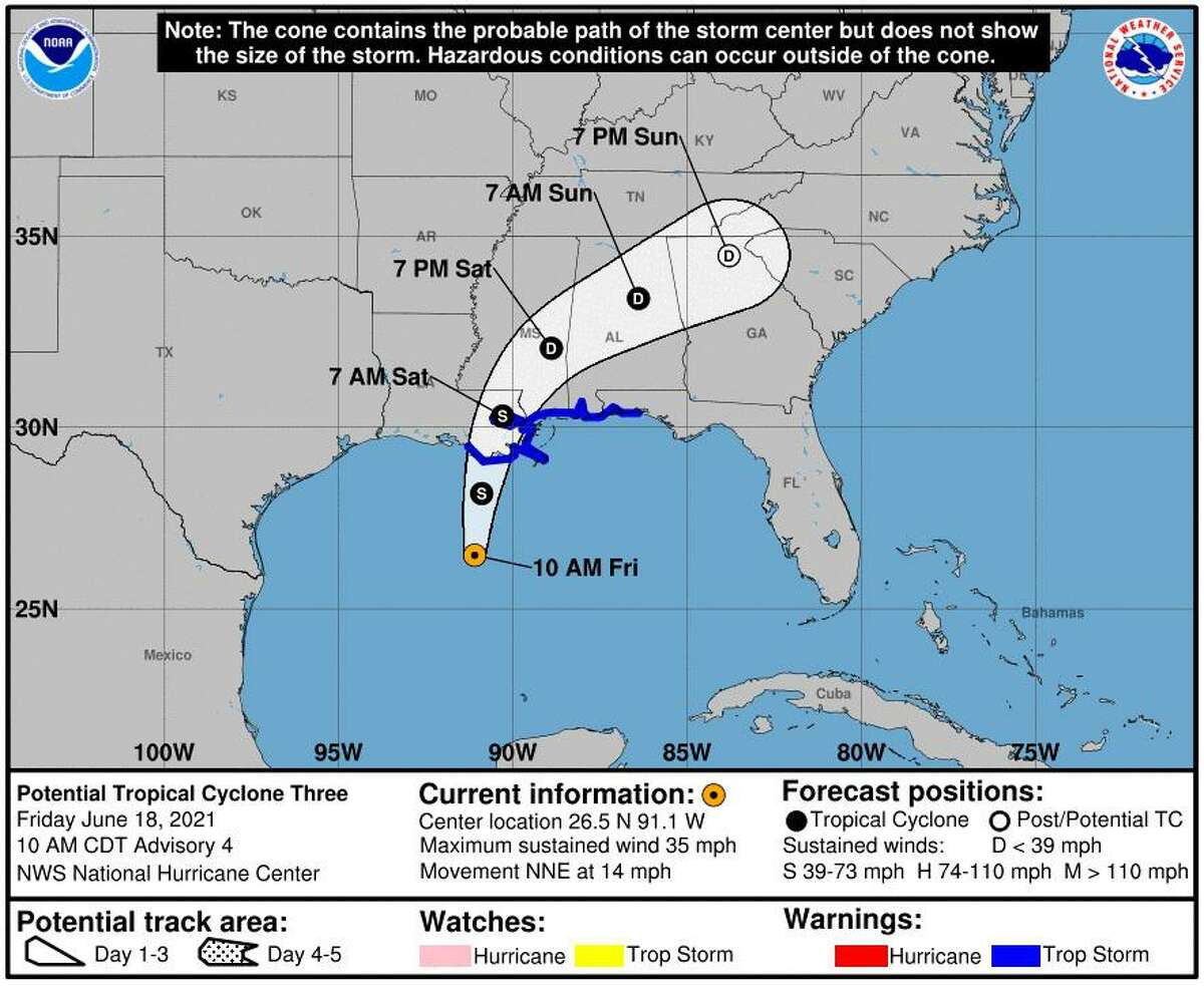 National Weather Service forecasters expect Potential Tropical Storm Three will have limited impacts on southeast Texas.