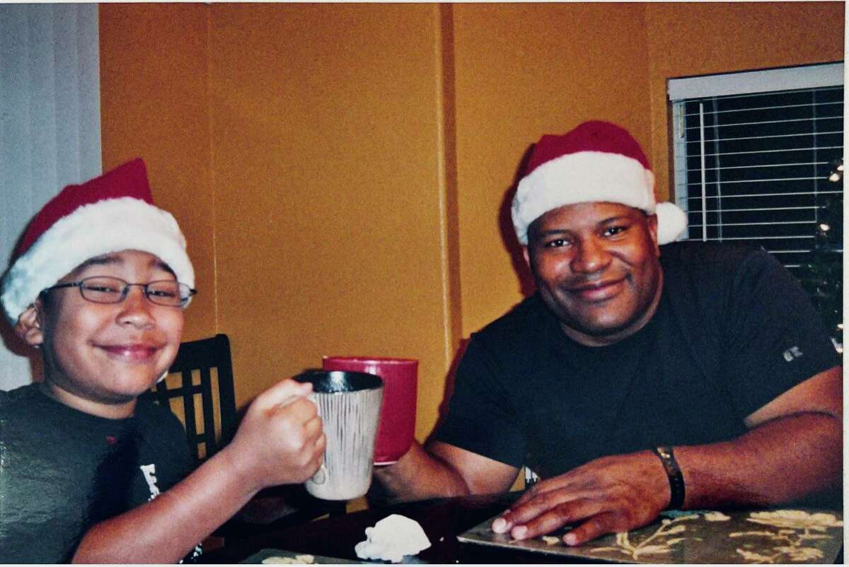 My son, Terence Russell, when he was about 7, and my husband, Sean.