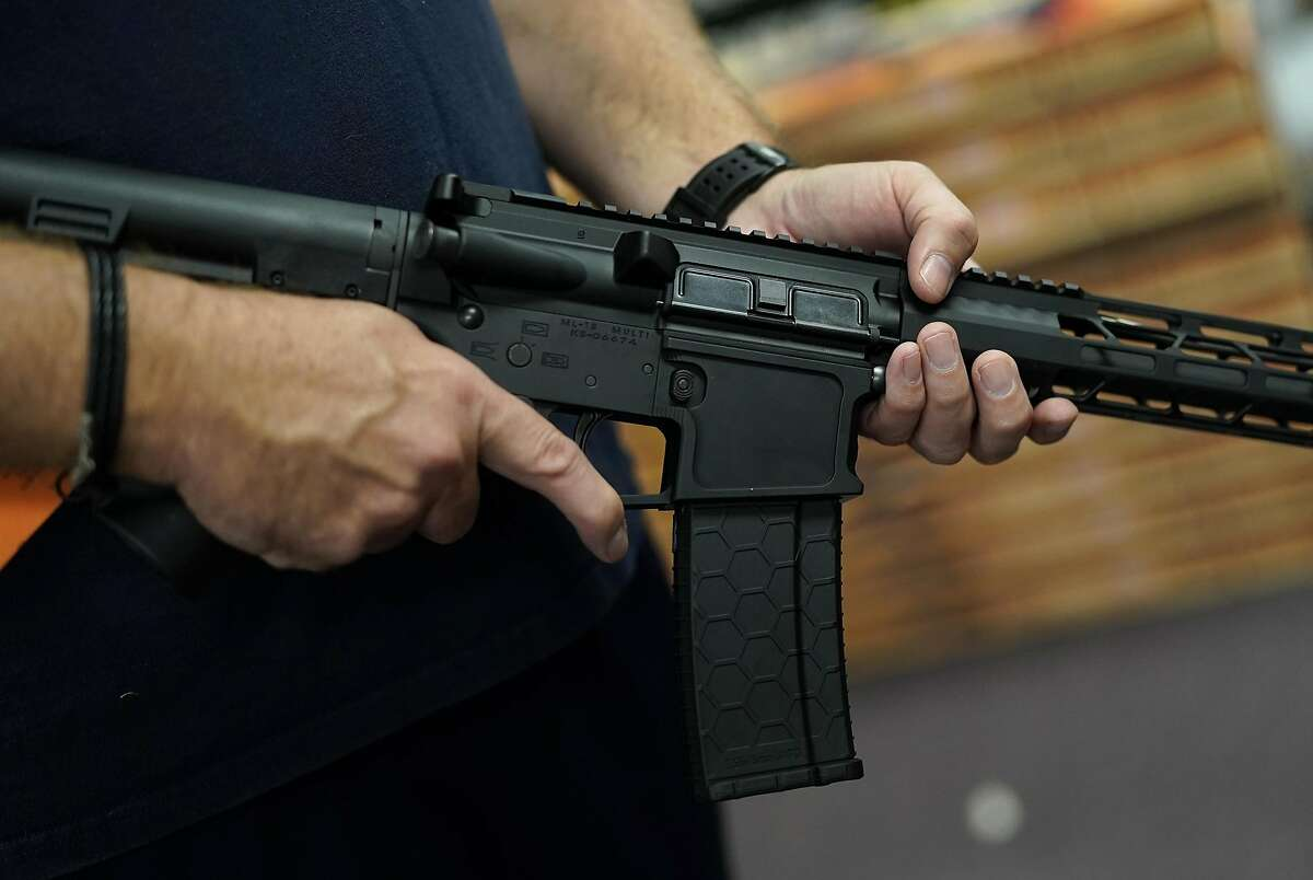 Twenty-two states have asked a federal court to halt California's ban on assault weapons.