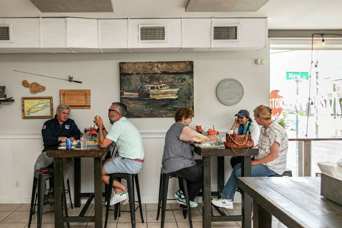 Customers dine in early June at Knot Norm's in Norwalk, Conn.