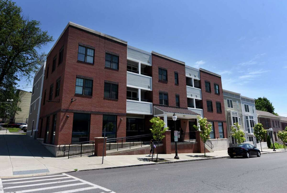 Exterior of the Sheridan Avenue building the houses Feed Albany's new kitchen and headquarters on Friday, June 18, 2021, in Albany, N.Y. (Will Waldron/Times Union)
