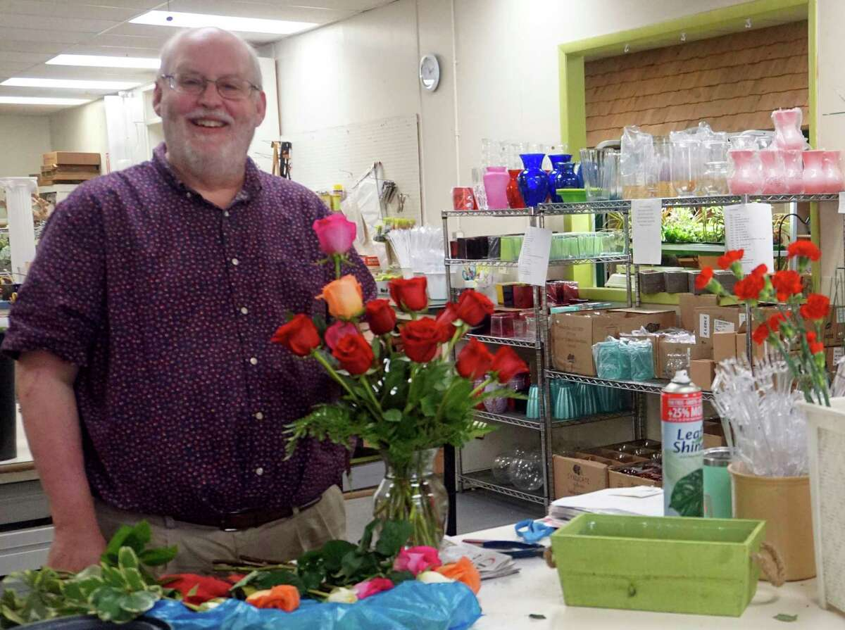 Patterson's Flowers owner Bob Patterson said he loves being able to service the community with his decorative pieces.(Pioneer photo/Joe Judd)