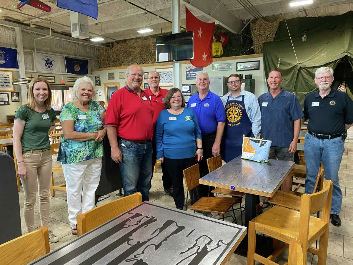 The Rotary Club of Conroe brought back a tradition on June 8 with the return of the Club's Pancake Supper. The event took place at Honor Cafe and marked a successful rebirth of the event. Pictured are some of the members of the club including, Elizabeth West, Micki Soderberg, Ron Saikowski, Mark Soderberg, Cecily Kelly, Ed Kelly, Derrick McCarley, Chris Stamm and Jim Wiggins.
