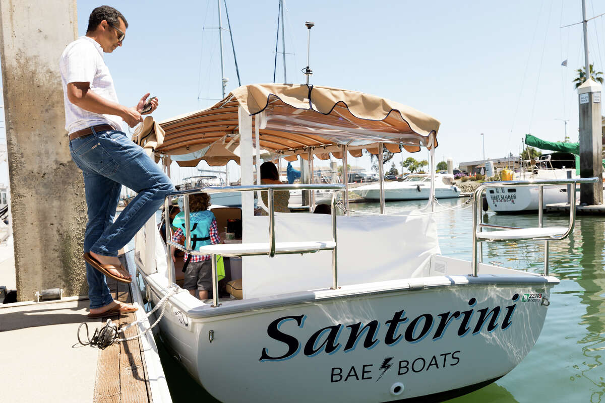 Each of the BAE Boats in the fleet is named for a place important to the husband-and-wife team behind Alameda's new electric boat rental company.