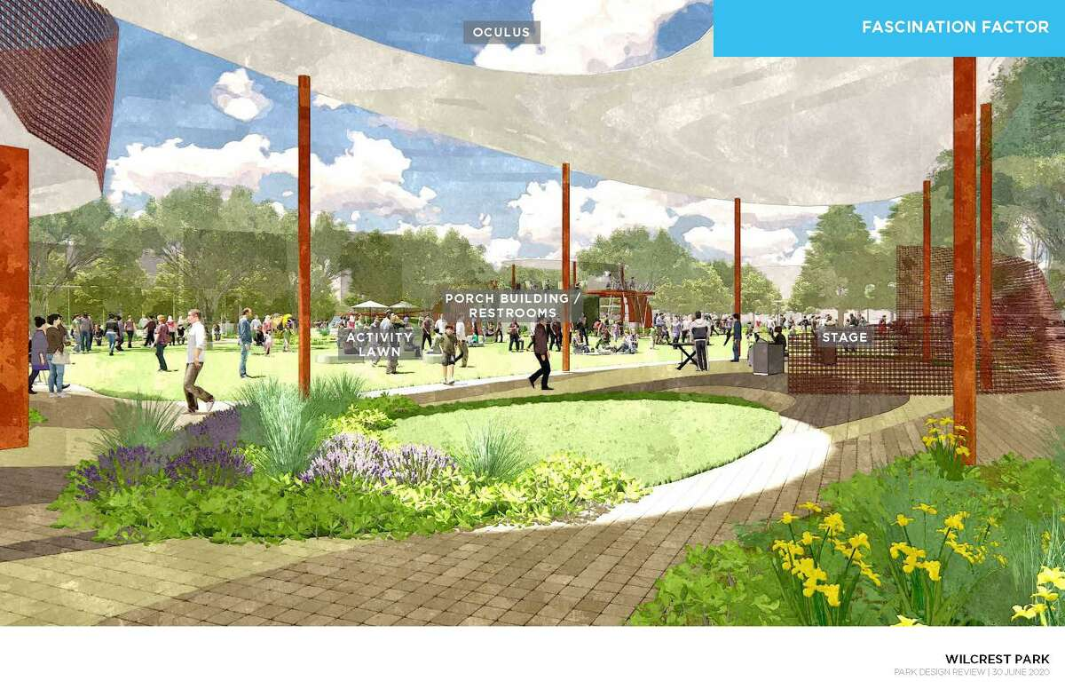 A rendering of what Wilcrest Park will look like