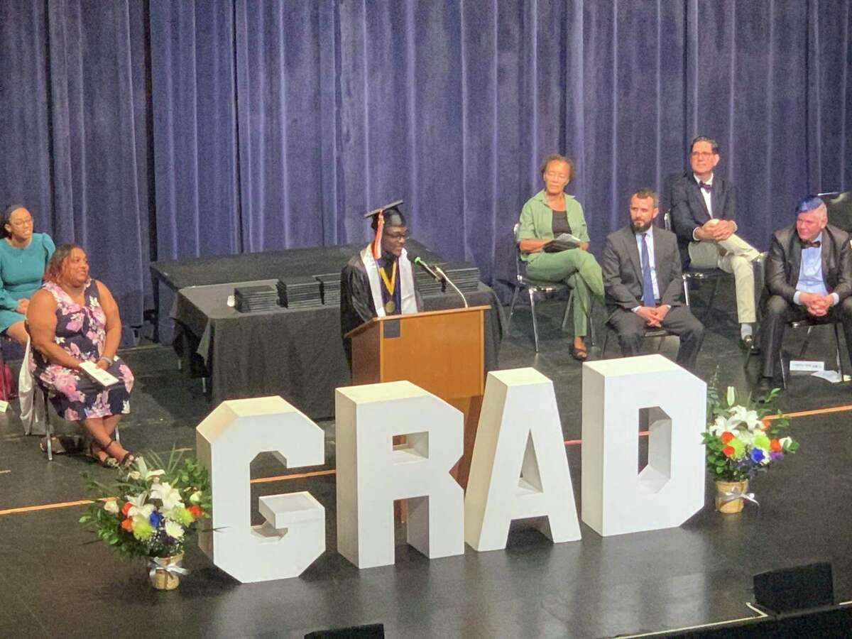 Great Oaks Charter School Bridgeport hosted the school's first graduation ceremony on Thursday.
