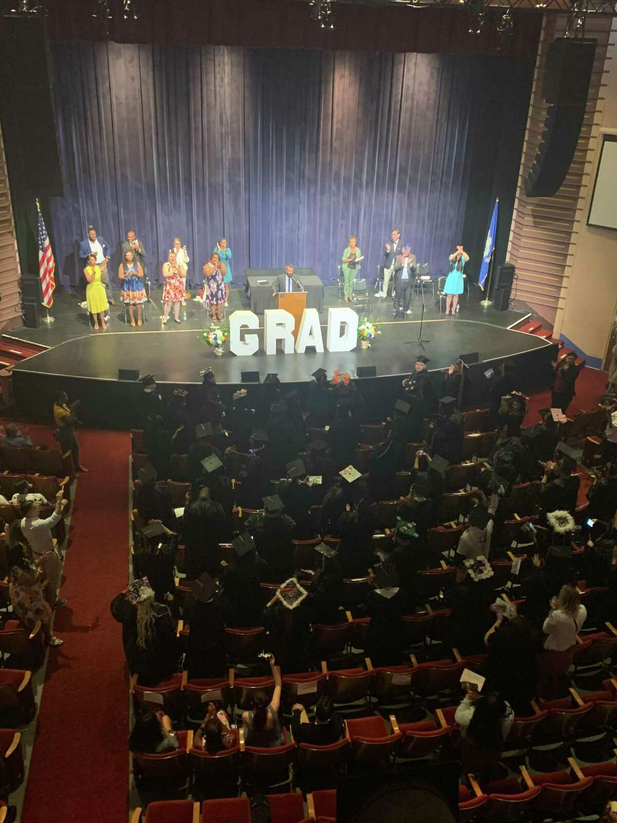 Great Oaks Charter School Bridgeport's first senior class celebrated the school's first graduation this week.