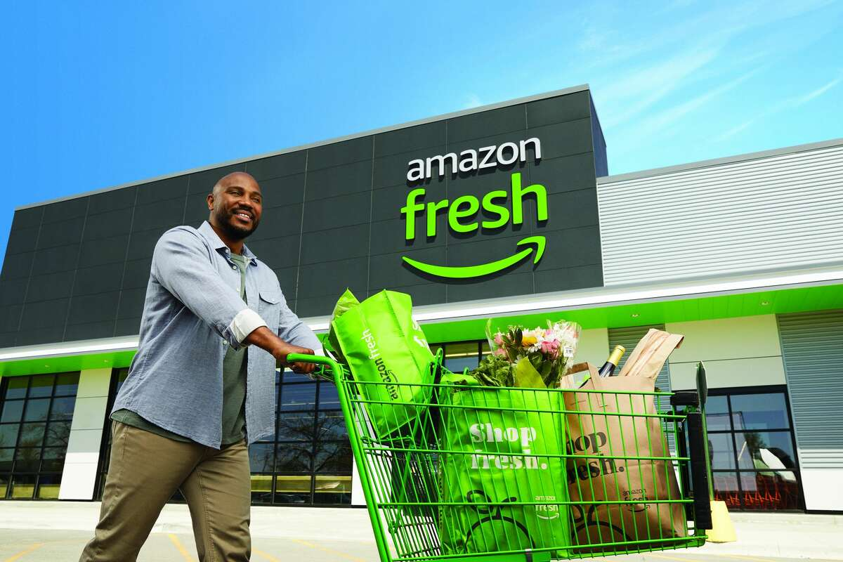 The exterior of the Amazon Fresh store in Bellevue, Washington.