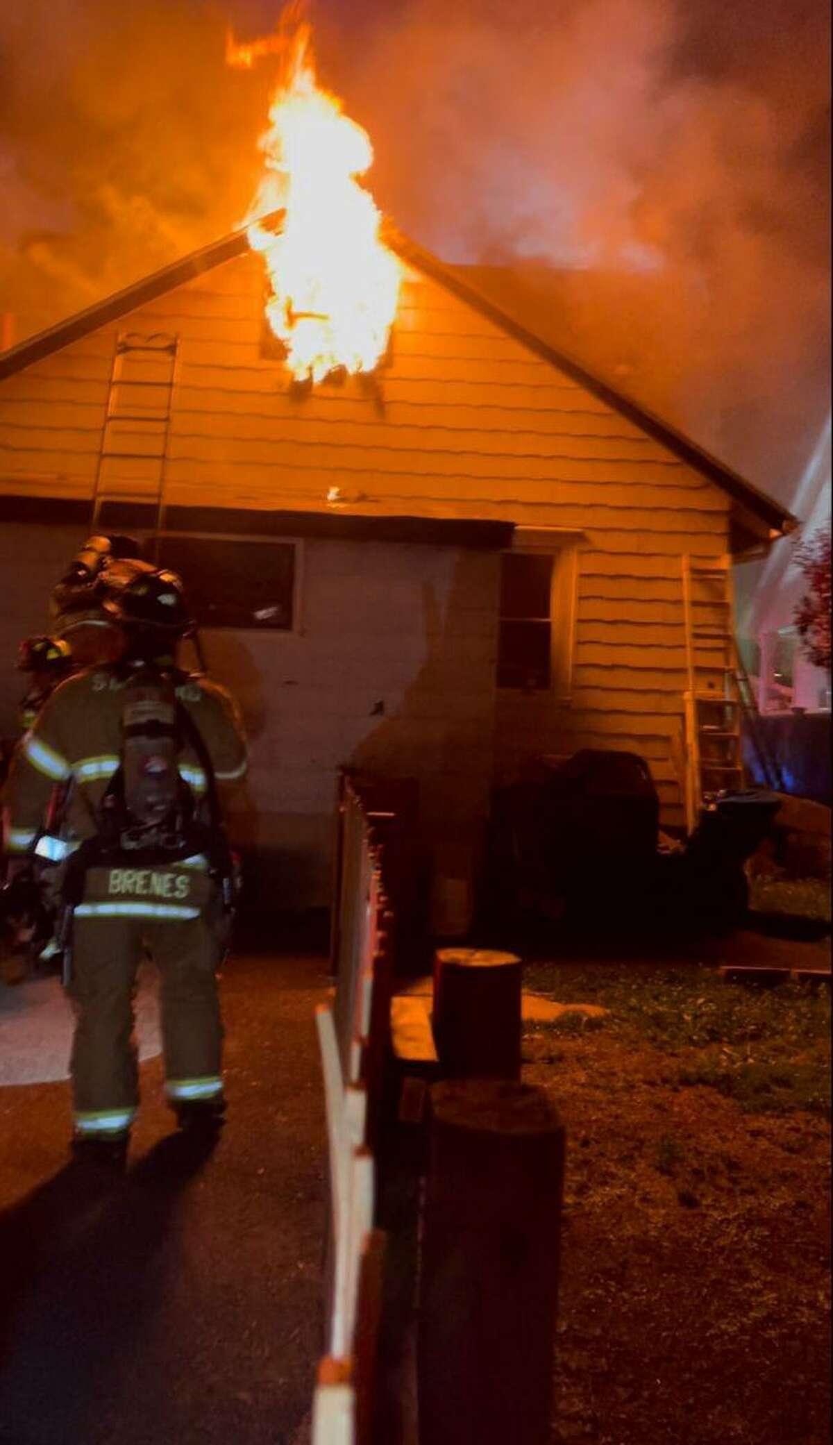 Stamford firefighters rescued several animals from a house fire in Stamford's East Side on Thursday night.