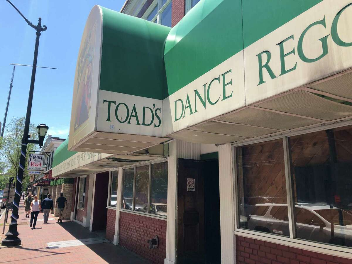 U.S. Sen. Richard Blumenthal, U.S. Rep. Rosa DeLauro and SBA Connecticut District Director Catherine Marx came to Toad's Place Friday to celebrate a federal grant that will help the venue recover from the pandemic and reopen.