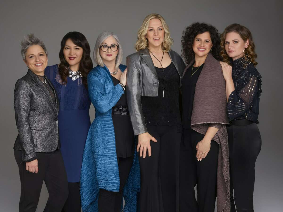 Jazz band Artemis (left to right): Allison Miller, Noriko Ueda, Renee Rosnes, Ingrid Jensen, Anat Cohen and Nicole Glover. Nicole Glover is new. Cohen is still with the band but will not be able to make it to the jazz festival this weekend.
