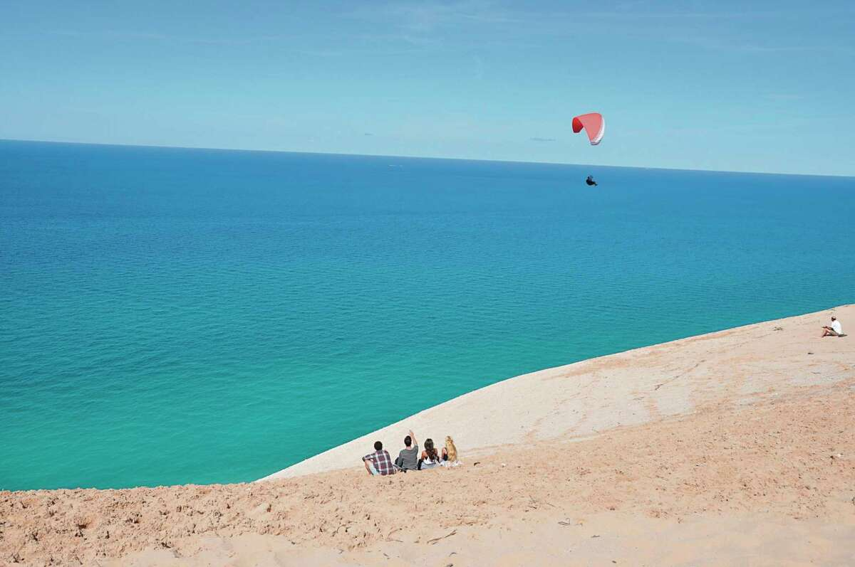 The Sleeping Bear Dunes National Lakeshore has broken visitor records every month in 2021 except April, making it likely the park will again break the record for number of visitors in a year. (Courtesy photo)