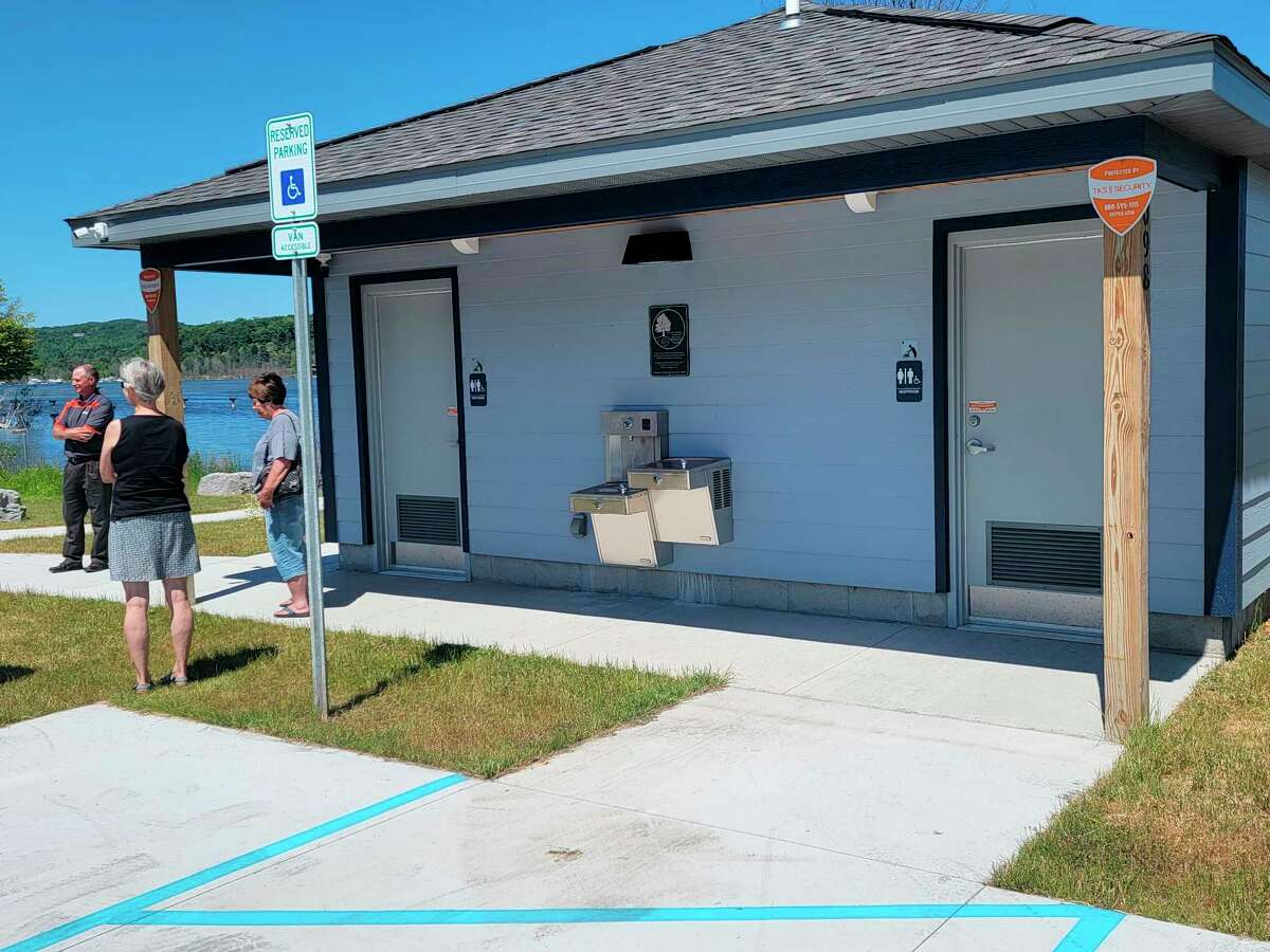 A grand opening was held on June 15 in Elberta for Penfold Park's new renovations, which includes restroom facilities. (Colin Merry/Record Patriot)