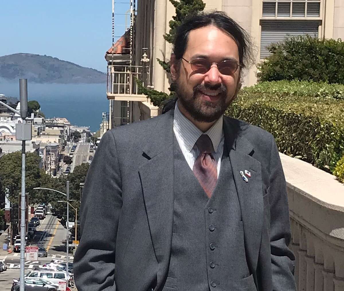 Michael Loebs, a lecturer at San Francisco State University and California secessionist, may be Gavin Newsom's most fascinating recall foe.