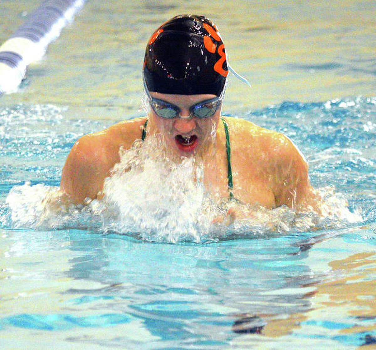 Montclaire's Allison Naylor, in 15-18 girls, posted victories in the 200-meter freestyle, 100 individual medley and 100 backstroke in Thursday night's home SWISA victory over the Collinsville Gators.