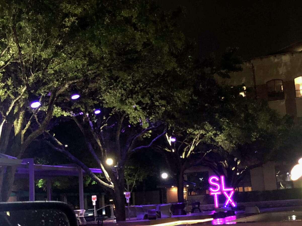 Sugar Land Plaza turns purple in honor of World Elder Abuse Awareness Day.