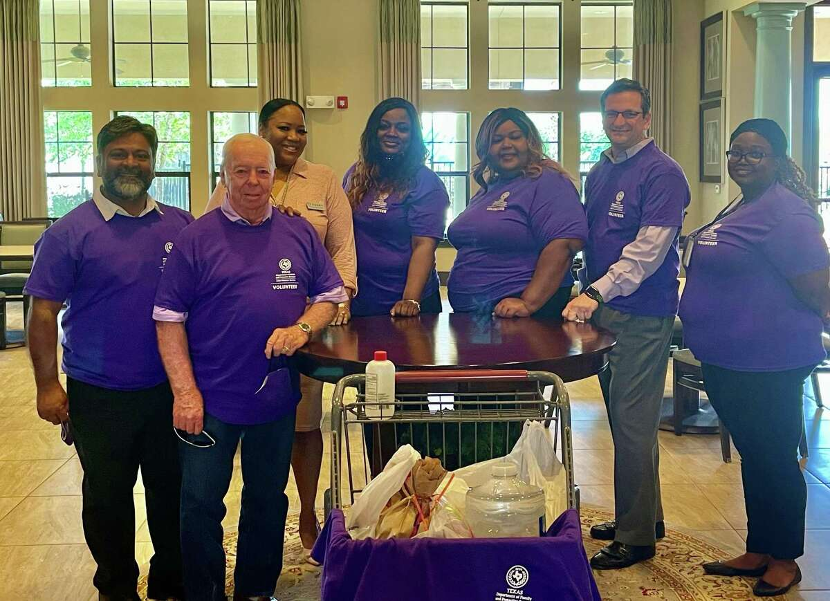 Fort Bend County County staff, elected officials and representatives from Adult Protective Services drop off groceries at senior living facilities.