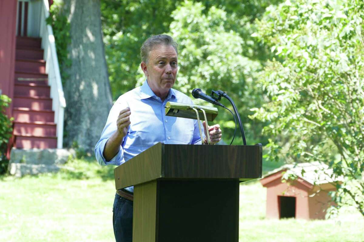Gov. Ned Lamont congratulated Wilton's Weir Farm for its new designation as a National Historic Park.