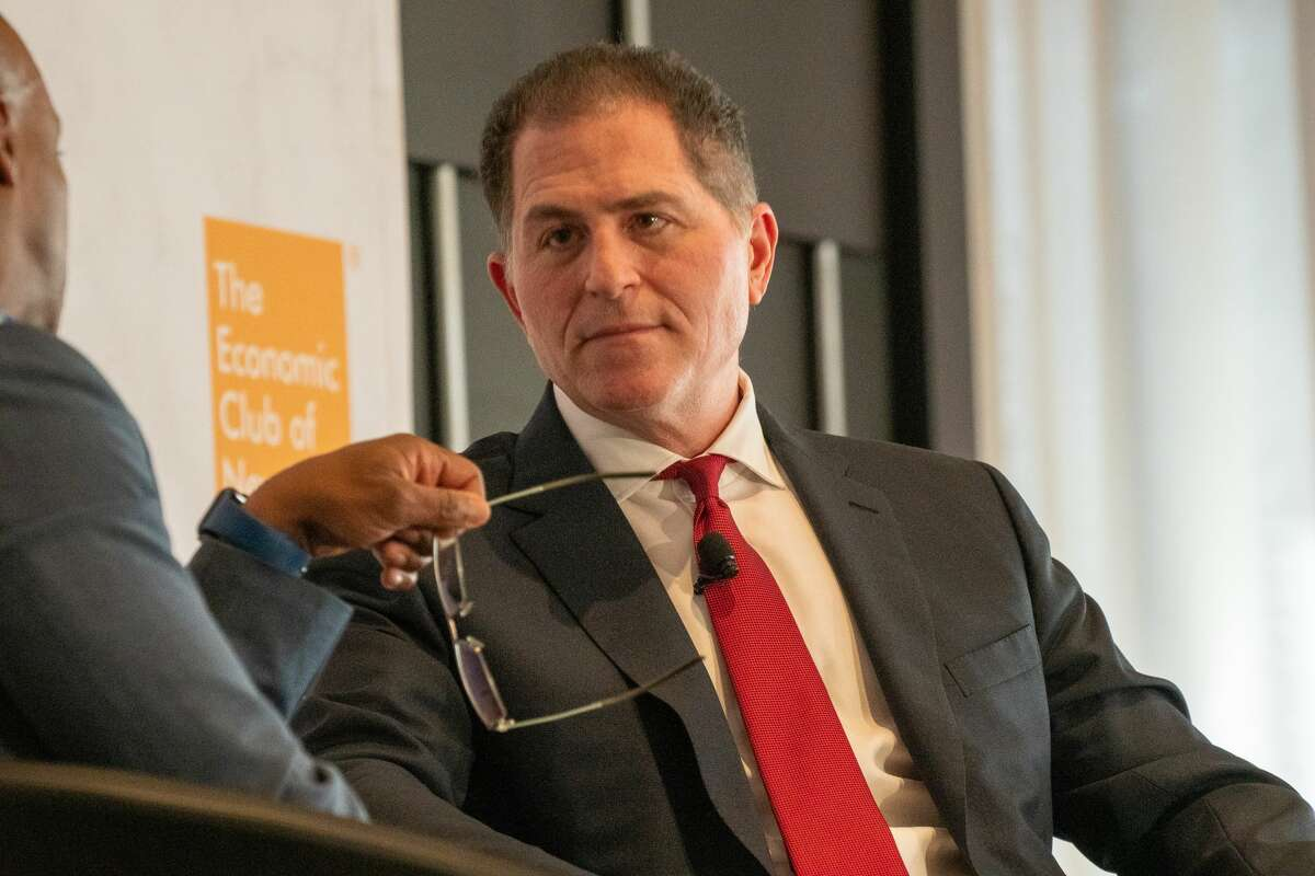 NEW YORK, NY - NOVEMBER 21: Economic Club of New York's fireside chat with Michael Dell at the Hyatt Hotel on November 21, 2019 in New York City. Dell was made a private company in 2013 by Michael Dell, Dell's founder and CEO, and Silver Lake Partners. Dell is staging a comeback to the public market after taking refuge as a privately-held business. Dells redeveloped strategy is on delivering private enterprise customers cloud, big data, mobile and security. (Photo by David Dee Delgado/Getty Images)