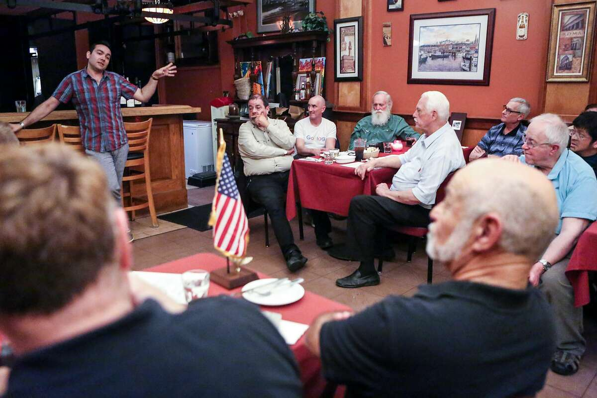 Log Cabin Republicans meet in San Francisco in 2017. The national organization of gay conservatives wasn't accepted by the California Republican Party until 2015. Now for the first time, in a Gallup poll, a majority of Republicans accept same-sex marriage.