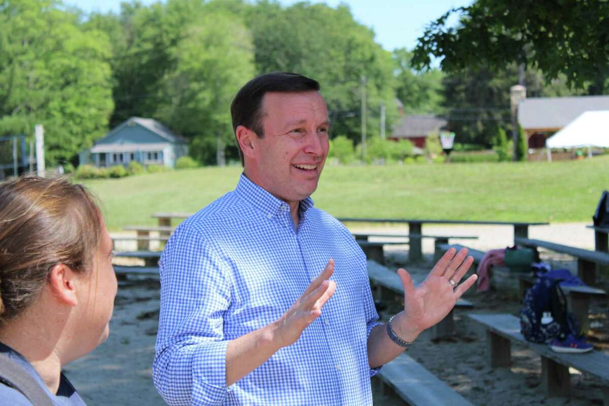 U.S. Senator Chris Murphy, State Representative Christine Palm, Chester First Selectwoman Lauren Gister toured Camp Hazen YMCA in Chester on Friday, June 18. The tour was led by Denise Learned, executive director and CEO, and Camp Director Kath Davies.