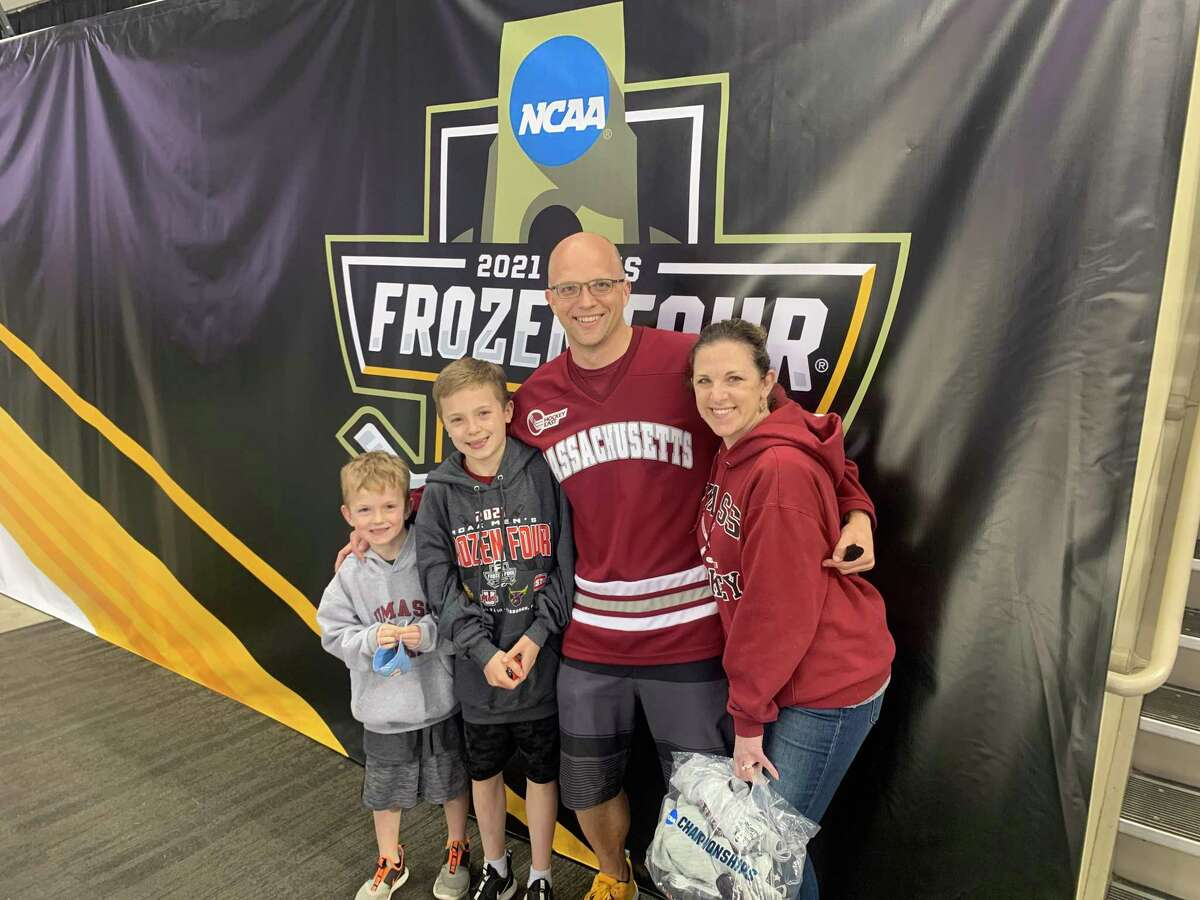 Because of the pandemic, John Pierz, of Brookfield, has been spending more time at home with his family and, with his wife and two sons, traveled to the 2021 NCAA Division 1 Men's Frozen Four hockey tournament in Pittsburgh in April.