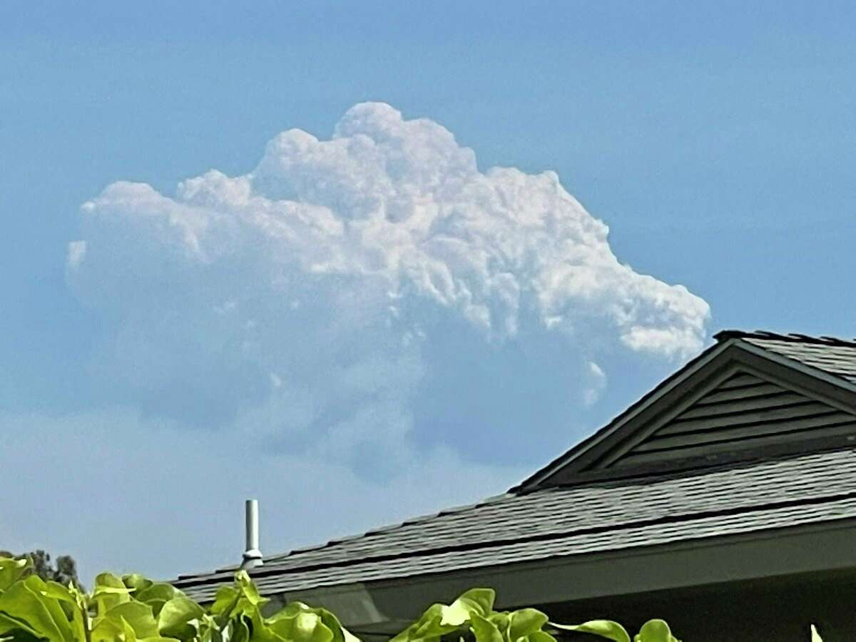 The Willow Fire in Big Sur emitted a massive pyrocumulus cloud on June 18, 2021, and it was visible from Carmel Valley where this photo was taken.