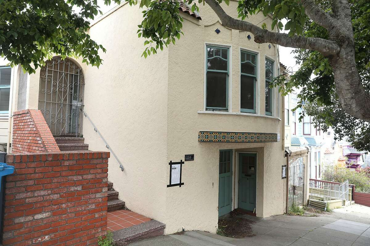 This modest Noe Valley home would be replaced by an almost 6,000-square-foot house. The project would also eliminate a lot of garden space shared with neighbors.