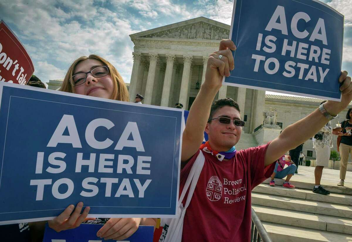 In this 2015 file photo, activists demonstrated in front of the Supreme Court after a ruling in favor of the Affordable Care Act.