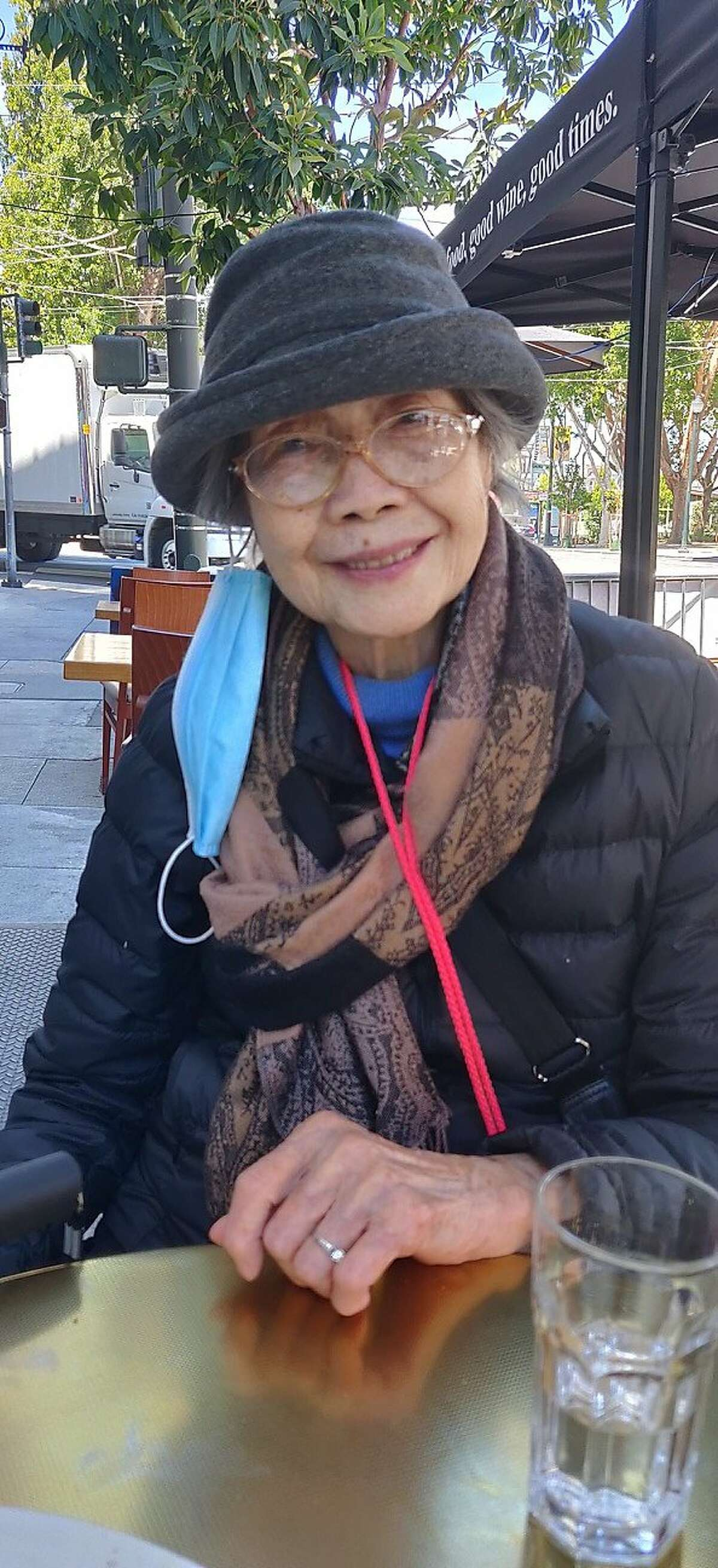 """Anh Taylor, 94, may lose function of her left arm following an """"unprovoked"""" stabbing on in San Francisco's Lower Nob Hill neighborhood,"""