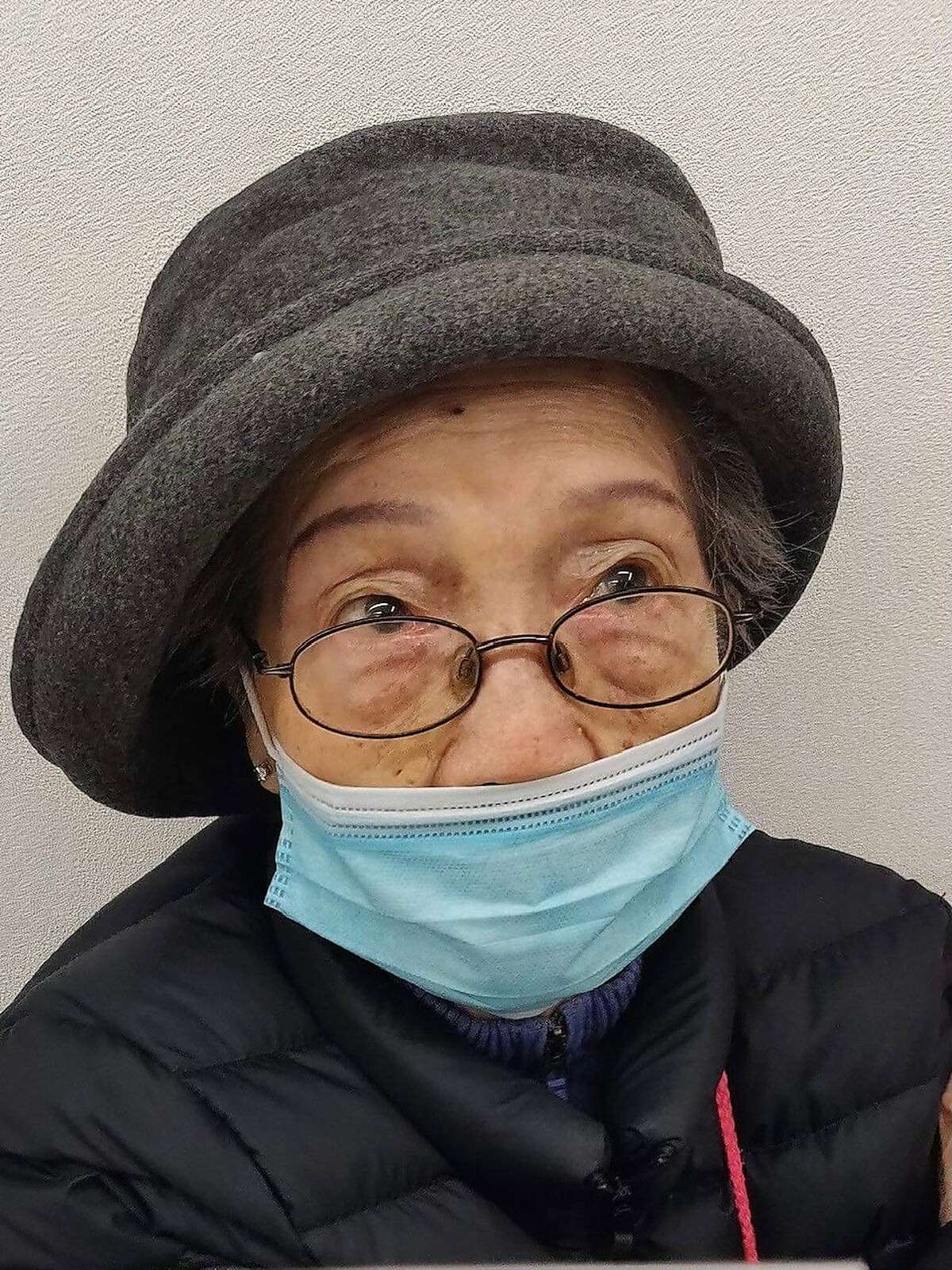 Anh Taylor, 94, seen here just after getting her COVID vaccine, was the victim of an unprovoked stabbing.