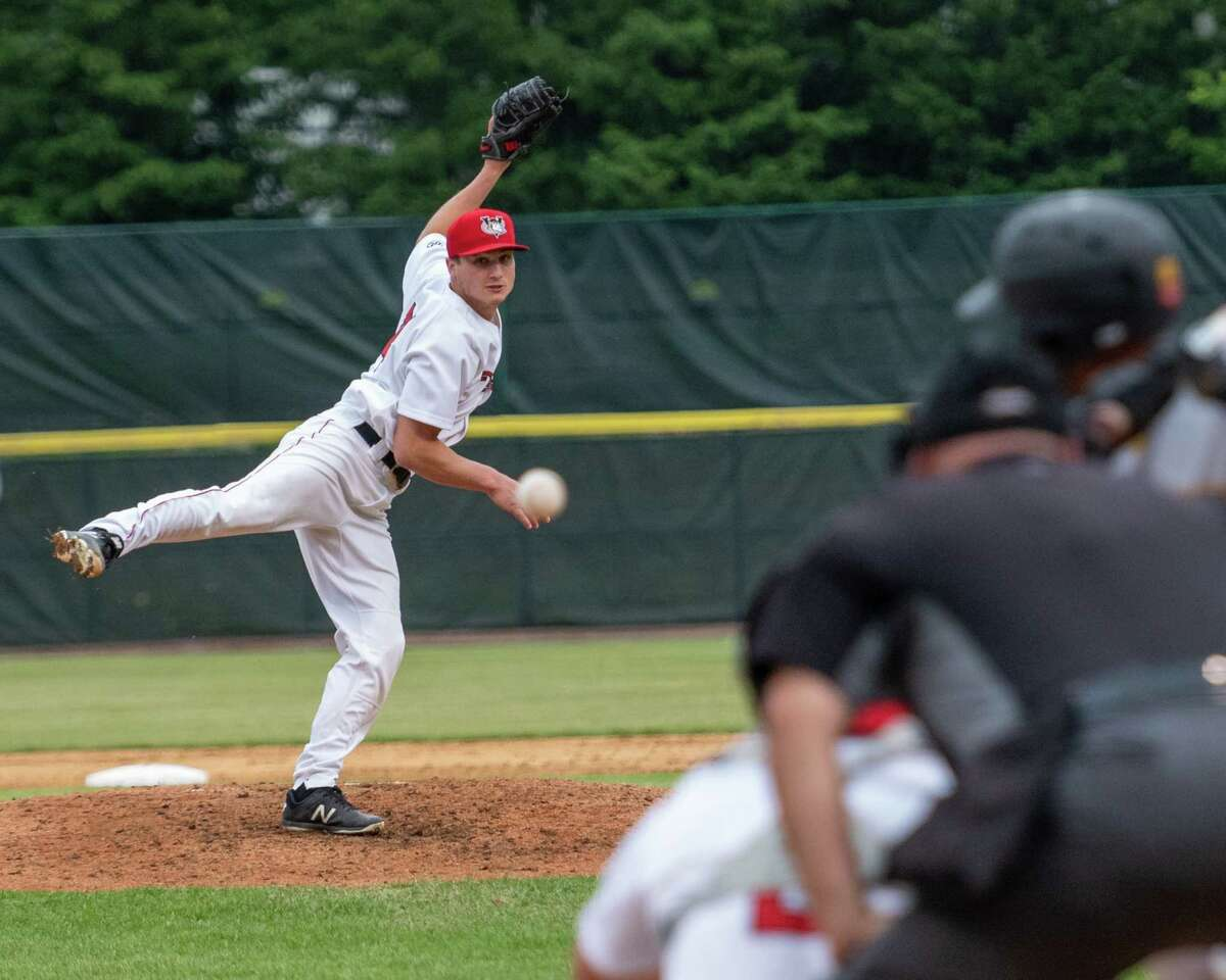 Tri-City ValleyCats starting pitcher Jake Dexter works against the Sussex County Miners during a game at Joseph L. Bruno Stadium on the Hudson Valley Community College campus in Troy, NY, on Friday, June 18, 2021 (Jim Franco/Special to the Times Union)