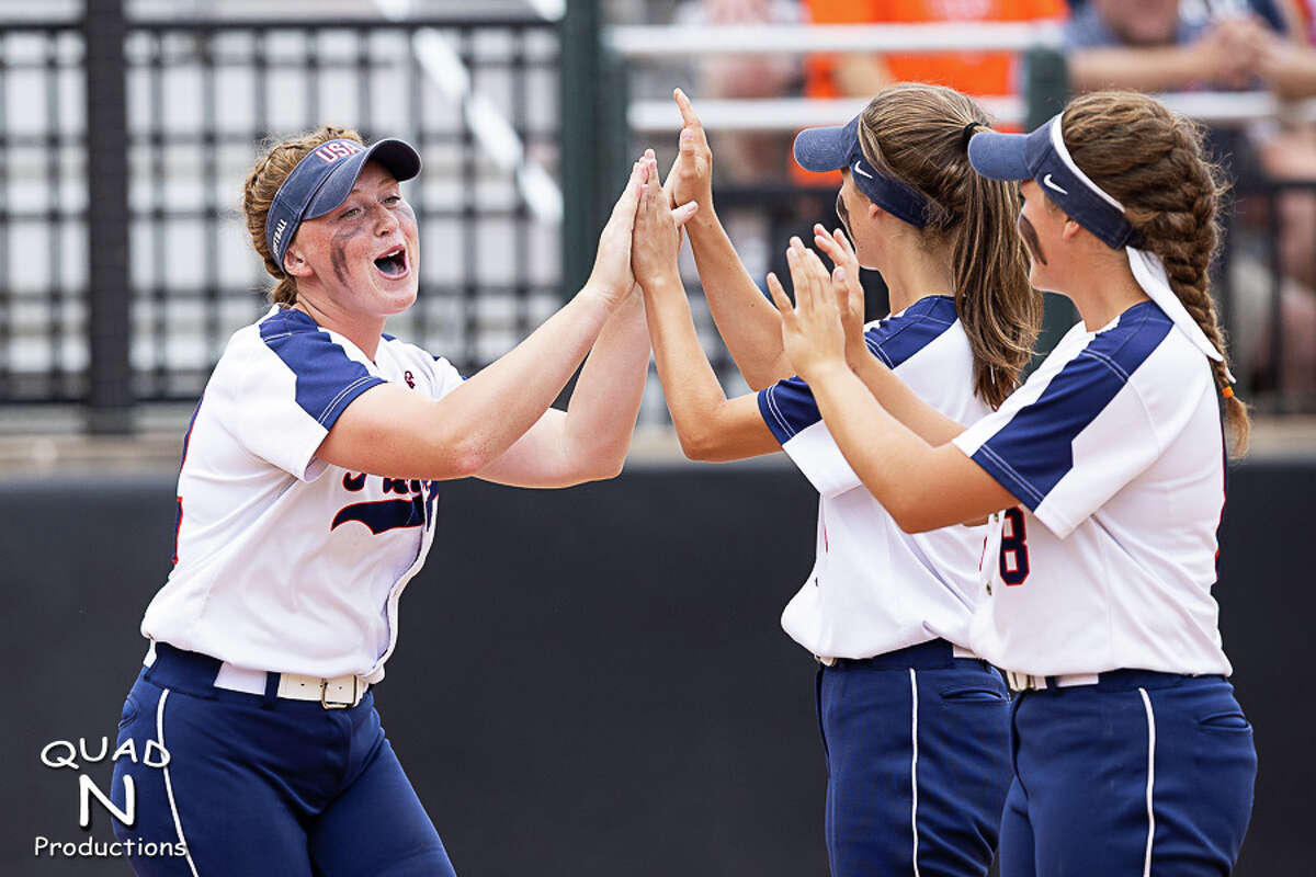 The Unionville-Sebewaing Area varsity softball team took one step closer to successfully defending its 2019 Division 4 MHSAA softball championship on Friday as the Patriots beat Bridgman, 9-2, in their semifinal matchup at Michigan State University in East Lansing. The Patriots (39-3) will take on Rudyard at 3 p.m. Saturday at MSU.