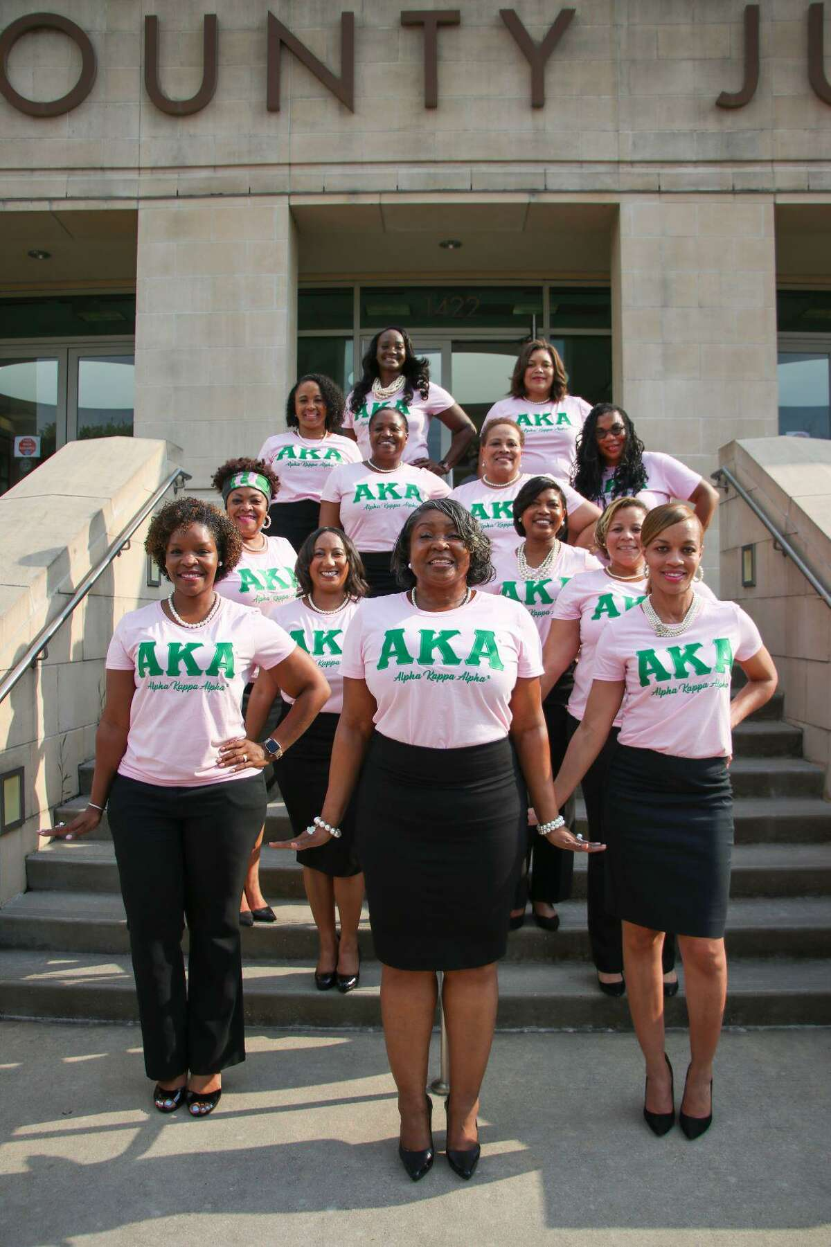 On Friday, June 18, 2021, Fort Bend County recognized its elected officials and county-level employees who are members of African American Greek Letter organizations. Shown here are members representing Alpha Kappa Alpha.