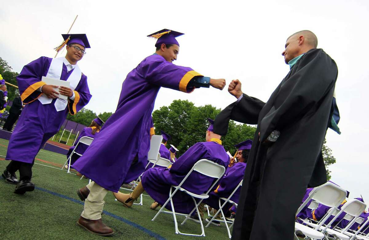 Westhill High School's 49th annual Commencement Exercises in Stamford, Conn., on Friday June 18, 2021.