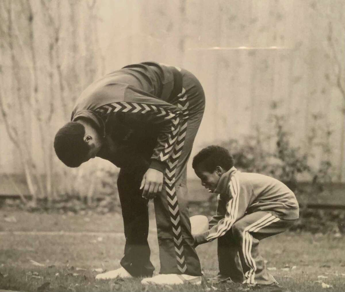 Stephen Silas and his father Paul play football during their time in Seattle in the late 1970s