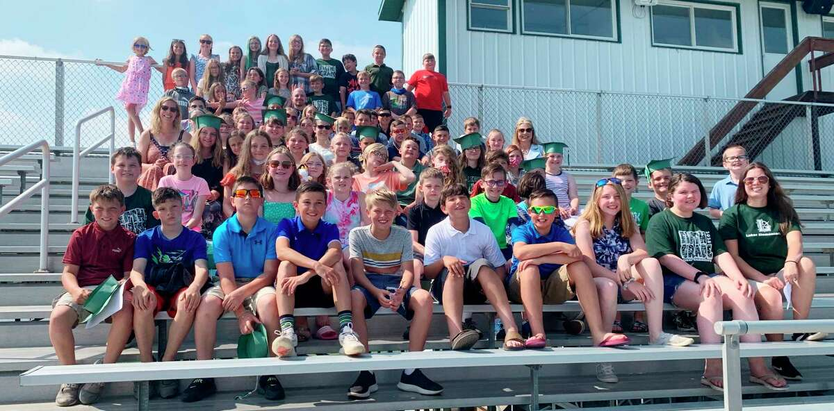 This year's fifth grade graduates will be the first group at the new Laker Middle School next fall. (Courtesy Photo)