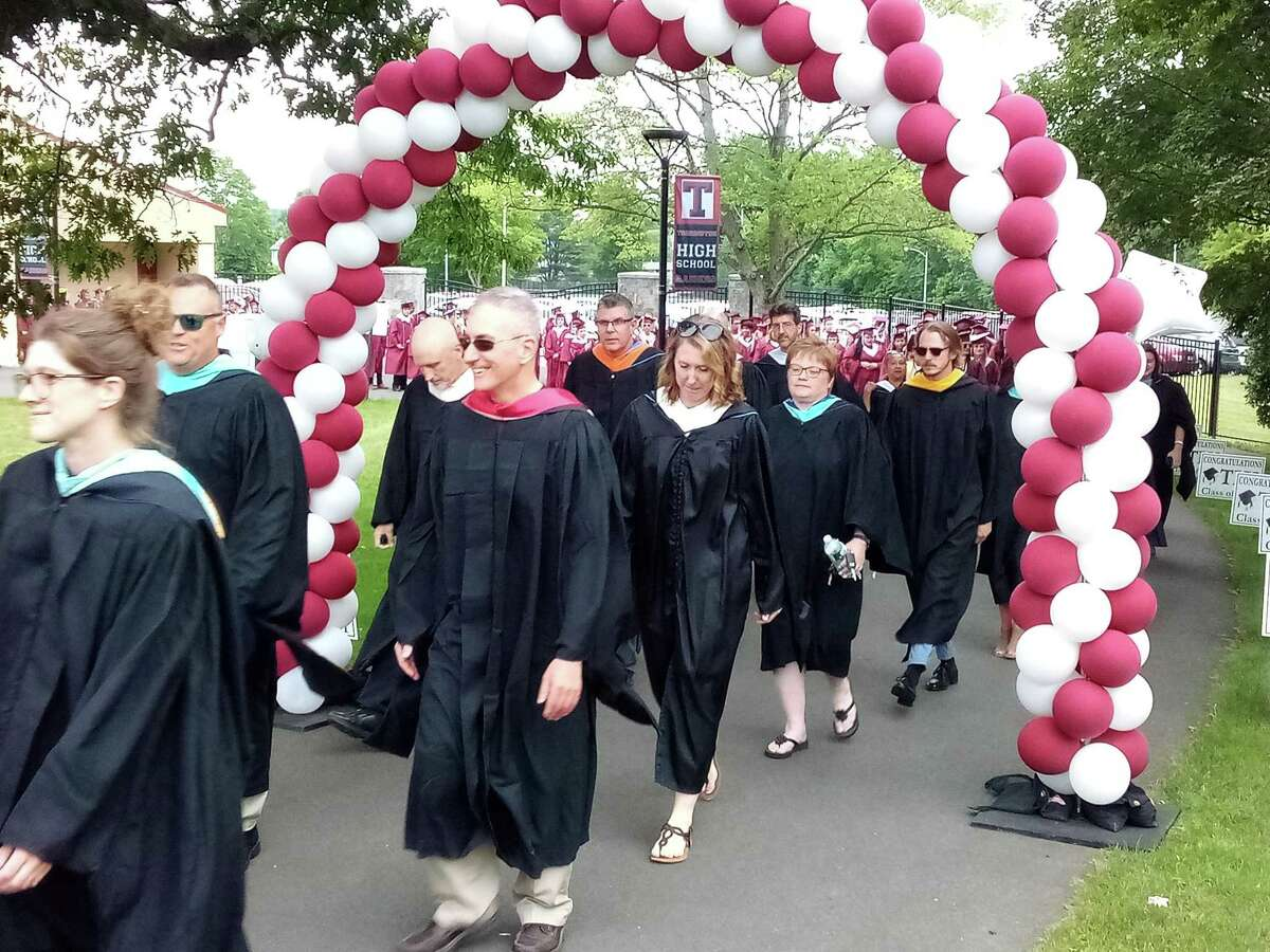 Torrington High School's class of 2021 graduated Friday night on the school campus' football field. Faculty members led the class onto the field.