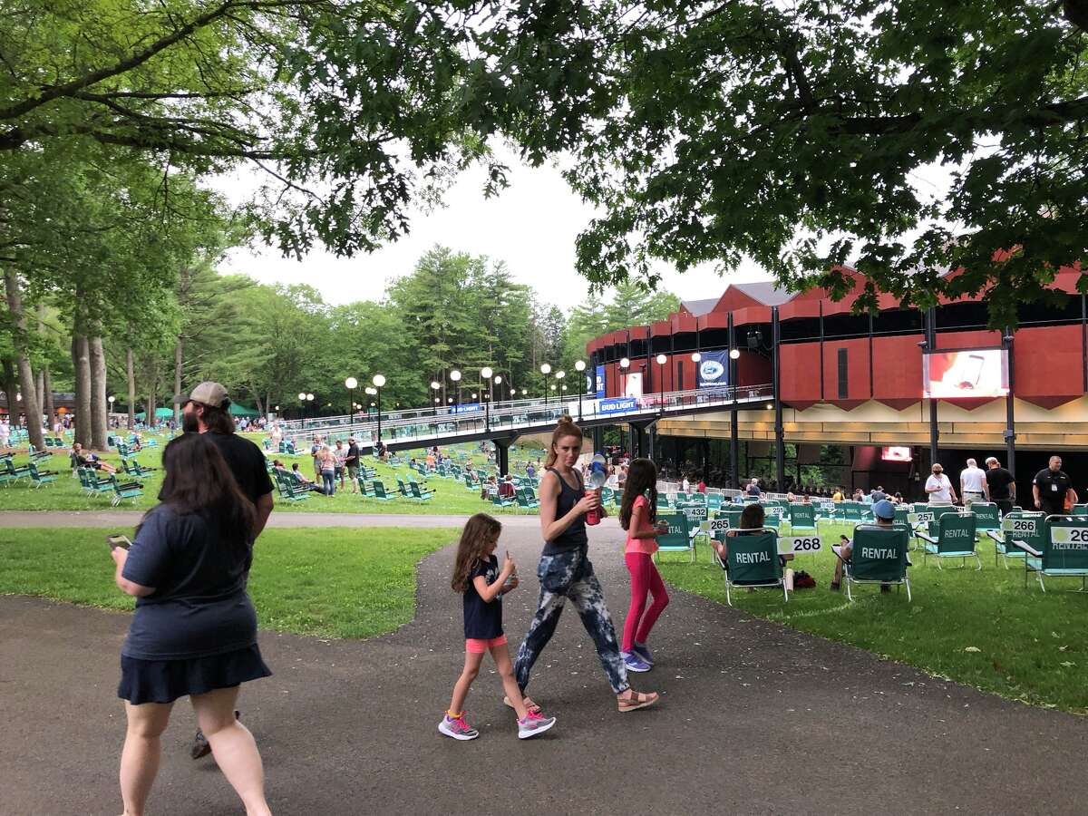 Attendees of Trey Anastasio concert at Saratoga Performing Arts Center in Saratoga Springs on Friday, June 18, 2021. (Credit: Jim Shahen Jr.)