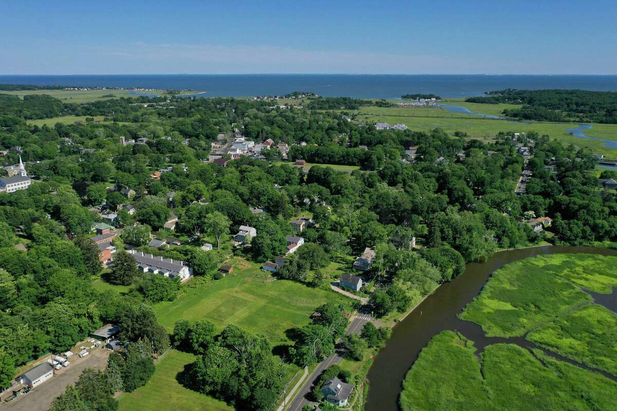A drone view of Guilford. Connecticut is poised to join 19 states and the District of Columbia in legalizing cannabis. Now, municipal officials must weigh what local regulations to put in place.