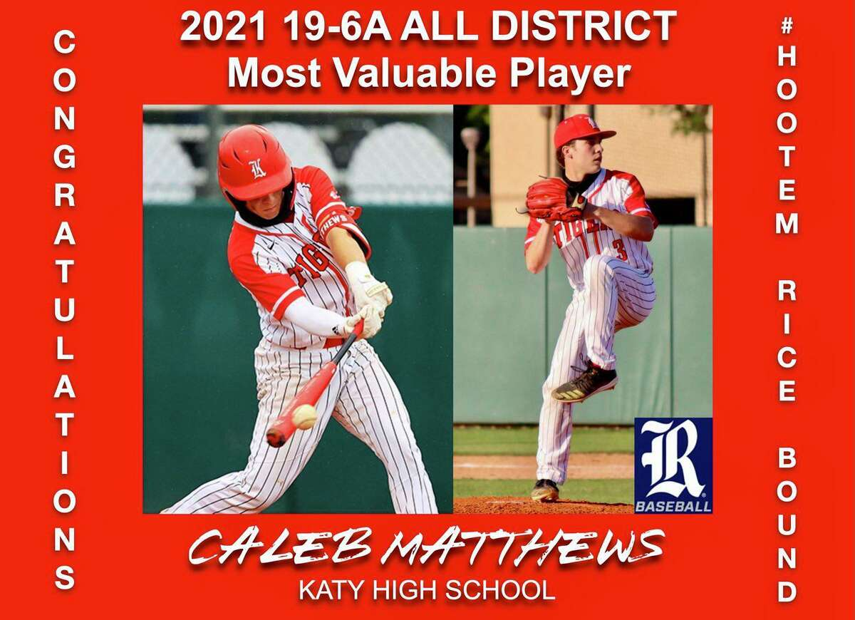 Katy senior Caleb Matthews was voted District 19-6A MVP after leading the Tigers to their first outright district title since 2014.