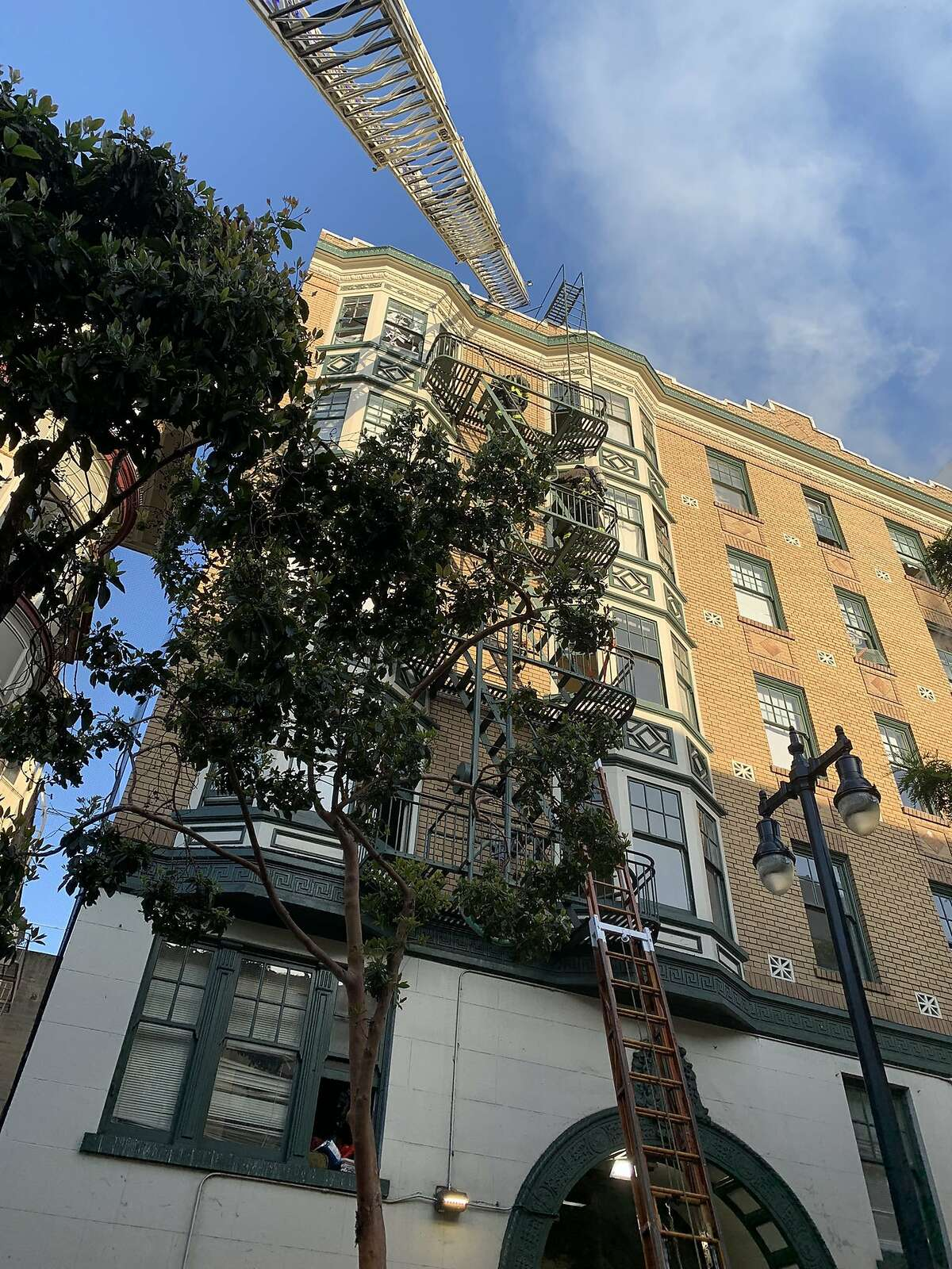 The San Francisco Fire Department contained a one-alarm fire that displaced approximately 60 residents of an apartment complex in the Tenderloin and left 20 injured on Saturday, June 19, 2021.