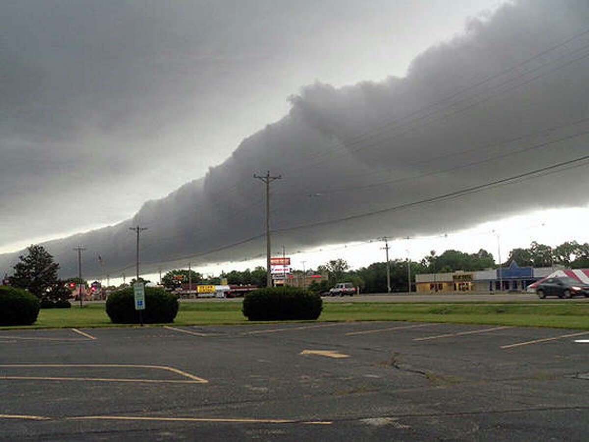 Storm clouds roll across Jacksonville on Saturday morning.